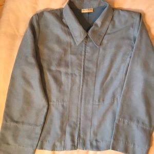 2 for $30Laura petites  blue faux suede jacket
